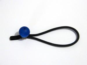 Faltstockgummi blaue Valutiperle