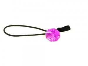 Faltstockgummi mit rosa Modeschmuckdiamant