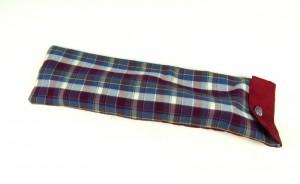 Langstocktasche Blau-Rot-Weiß karriert mit Knopfverschluß